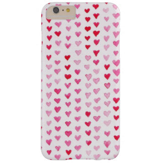 Watercolor Hearts Barely There iPhone 6 Plus Case