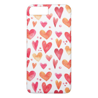 Watercolor HEARTS iPhone 8 Plus/7 Plus Case