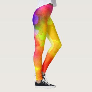 Watercolor/Hearts Leggings