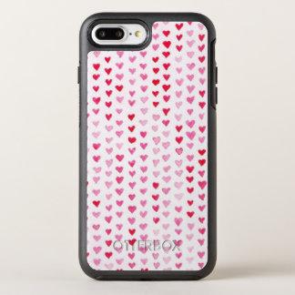 Watercolor Hearts OtterBox Symmetry iPhone 8 Plus/7 Plus Case