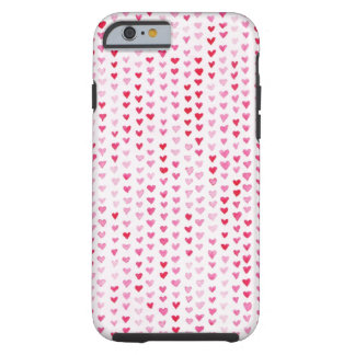 Watercolor Hearts Tough iPhone 6 Case
