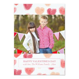 Watercolor Hearts | Valentine's Day Cards 13 Cm X 18 Cm Invitation Card