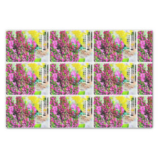 Watercolor Heather & Spring Flowers Tissue Paper