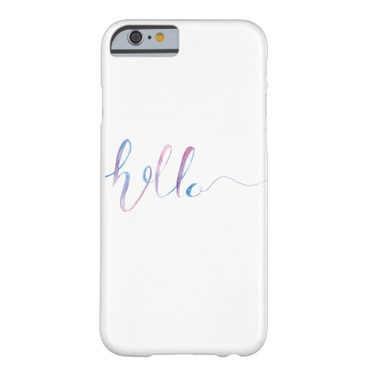 Watercolor Hello Text on a Case