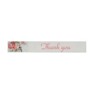 Watercolor Hibiscus Flower Wedding Wraparound Address Label