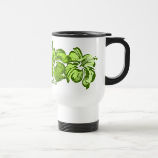 Watercolor Hibiscus Travel Mug