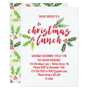 lunch christmas party invitations zazzle uk