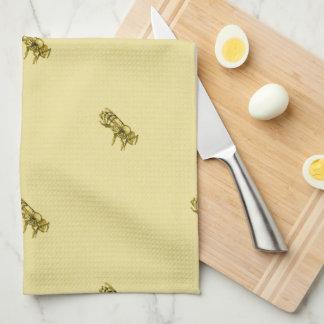Watercolor Honey Bee Tea Towel