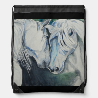 Watercolor Horses Backpack
