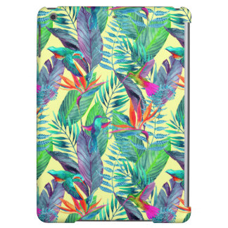 Watercolor Humminbirds In The Jungle iPad Air Cover