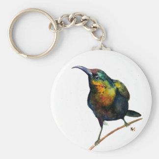 Watercolor Hummingbird key chain