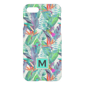 Watercolor Hummingbirds | Add Your Initial iPhone 8/7 Case