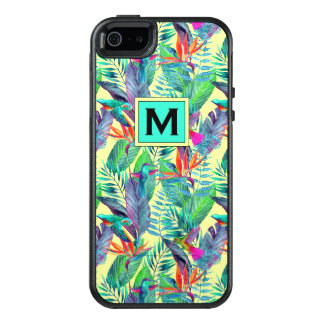 Watercolor Hummingbirds | Add Your Initial OtterBox iPhone 5/5s/SE Case