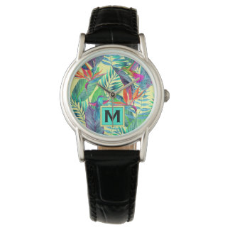 Watercolor Hummingbirds | Add Your Initial Watch