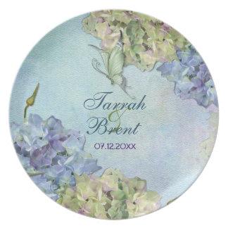 Watercolor Hydrangea Floral - Keepsake Plate