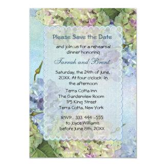 Watercolor Hydrangea Rehearsal Dinner Invitation