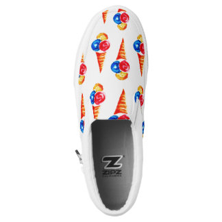 Watercolor ice-cream cone Slip-On shoes