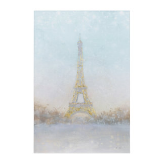 Watercolor | Image of Eiffel Towe Acrylic Print