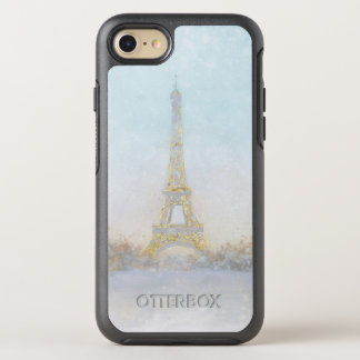 Watercolor | Image of Eiffel Towe OtterBox Symmetry iPhone 8/7 Case