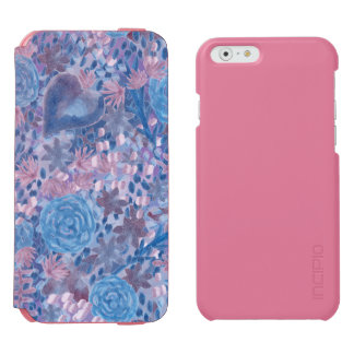Watercolor in blues incipio watson™ iPhone 6 wallet case