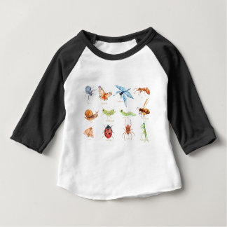 Watercolor insect illustration baby T-Shirt