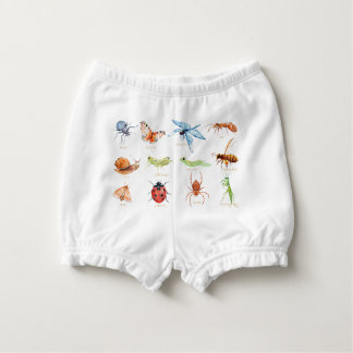 Watercolor insect illustration nappy cover