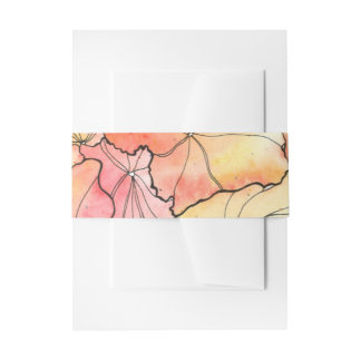 Watercolor Invitation Belly Band
