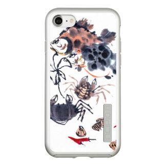 Watercolor iPhone 7 DualPro Shine, Silver Incipio DualPro Shine iPhone 8/7 Case