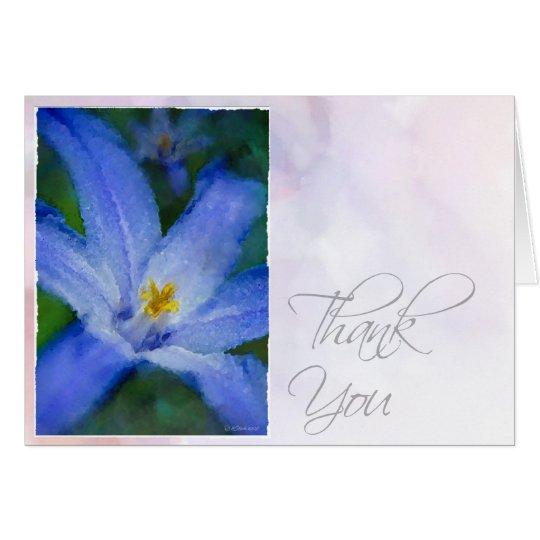 Watercolor Iris-TY Card