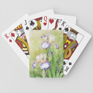 Watercolor Irises Playing Cards