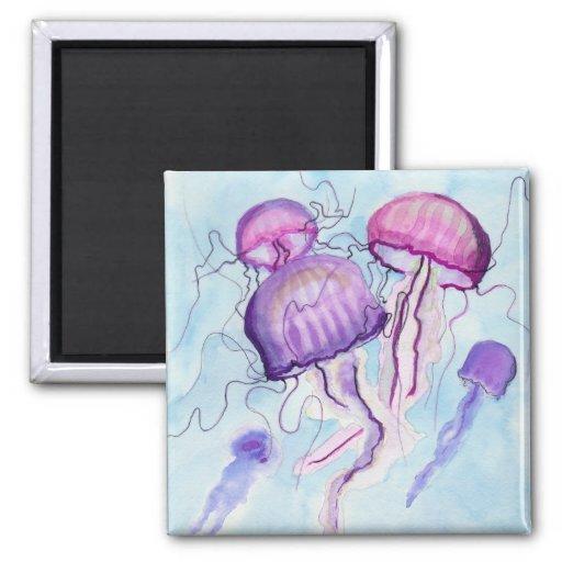 Watercolor Jellyfish Fridge Magnet