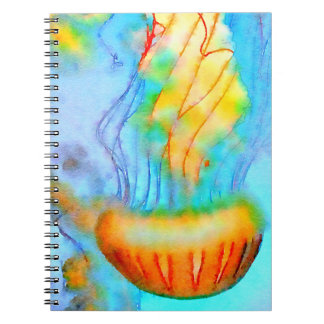 Watercolor Jellyfish Notebook