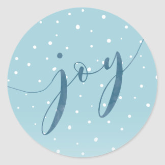Watercolor Joy Christmas Sticker