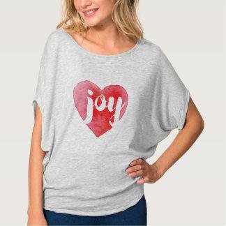 Watercolor Joy Heart Christmas T-Shirt