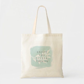 Watercolor Joyful Leaves Tote Bag