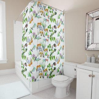 Watercolor Jungle & Birds | Duvet Cover Shower Curtain