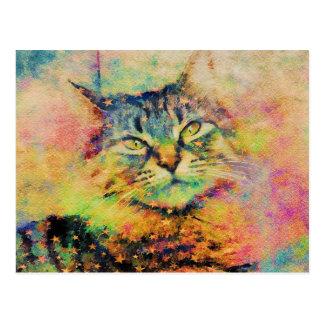 Watercolor Kitty Postcard