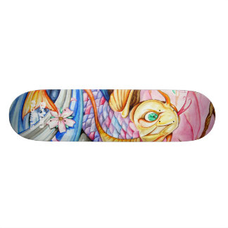 Watercolor Koi Fish Skateboard