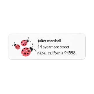 Watercolor Ladybug Return Address Labels