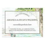 Watercolor Lake Wedding Information Insert Pack Of Chubby Business Cards