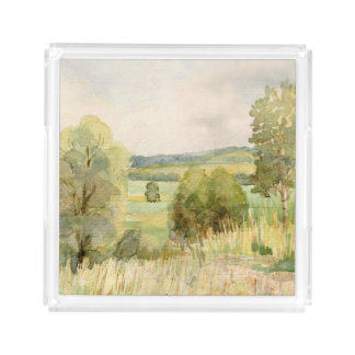 Watercolor Landscape Acrylic Tray