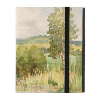 Watercolor Landscape iPad Folio Case
