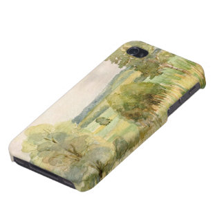 Watercolor Landscape iPhone 4 Covers