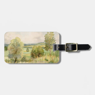 Watercolor Landscape Luggage Tag