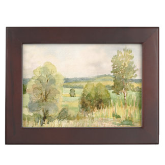 Watercolor Landscape Memory Box