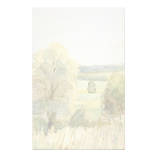 Watercolor Landscape Stationery