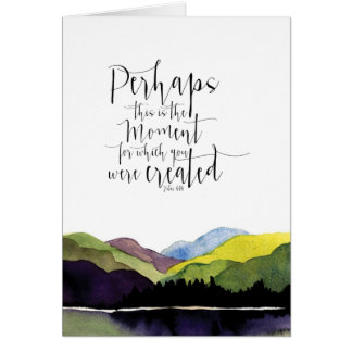 Watercolor landscape with biblical scripture card