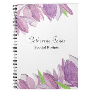 Watercolor Lavender Flower Notebook
