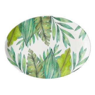 Watercolor Leaf | Platter