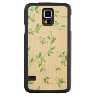 Watercolor leaves pattern maple galaxy s5 slim case
